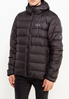Пуховик, Jack Wolfskin, цвет: черный. Артикул: JA021EMWHY63. Одежда / Верхняя одежда / Пуховики и зимние куртки