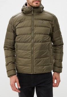 Пуховик, Jack Wolfskin, цвет: хаки. Артикул: JA021EMWHY65. Одежда / Верхняя одежда / Пуховики и зимние куртки