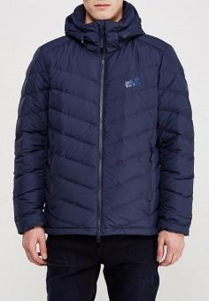 Пуховик, Jack Wolfskin, цвет: синий. Артикул: JA021EMWHY72. Одежда / Верхняя одежда / Пуховики и зимние куртки