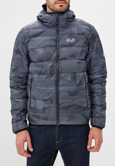 Пуховик, Jack Wolfskin, цвет: серый. Артикул: JA021EMWHY74. Одежда / Верхняя одежда / Пуховики и зимние куртки