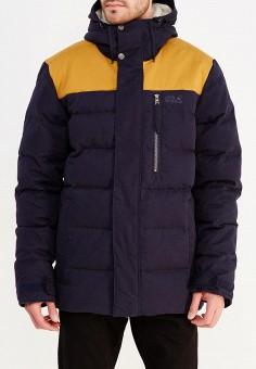 Пуховик, Jack Wolfskin, цвет: синий. Артикул: JA021EMWHY75. Одежда / Верхняя одежда / Пуховики и зимние куртки