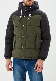 Куртка утепленная, Jack & Jones, цвет: хаки. Артикул: JA391EMBZMD0. Одежда / Верхняя одежда / Демисезонные куртки
