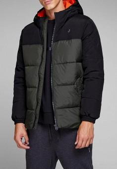 Куртка утепленная, Jack & Jones, цвет: синий. Артикул: JA391EMBZMF6. Одежда / Верхняя одежда / Демисезонные куртки