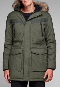 Куртка утепленная, Jack & Jones, цвет: хаки. Артикул: JA391EMBZMI2. Одежда / Верхняя одежда / Демисезонные куртки