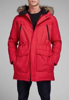 Куртка утепленная, Jack & Jones, цвет: красный. Артикул: JA391EMBZMI4. Одежда / Верхняя одежда / Демисезонные куртки