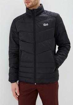 Куртка утепленная, Jack & Jones, цвет: черный. Артикул: JA391EMBZML1. Одежда / Верхняя одежда / Демисезонные куртки