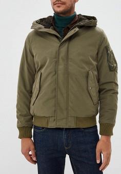 Куртка утепленная, Jack & Jones, цвет: хаки. Артикул: JA391EMBZMR1. Одежда / Верхняя одежда / Демисезонные куртки