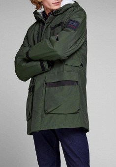 Куртка утепленная, Jack & Jones, цвет: зеленый. Артикул: JA391EMBZMV5. Одежда / Верхняя одежда / Пуховики и зимние куртки