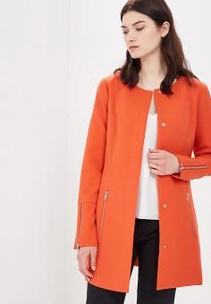 Пальто, Jacqueline de Yong, цвет: оранжевый. Артикул: JA908EWAPIH4. Одежда / Верхняя одежда / Пальто