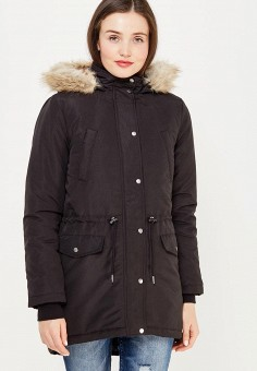 Парка, Jacqueline de Yong, цвет: черный. Артикул: JA908EWUJB52. Одежда / Верхняя одежда / Парки