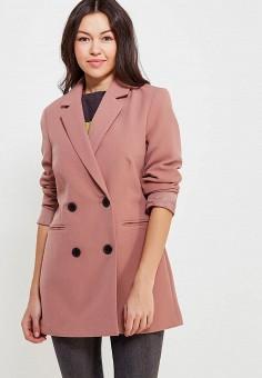 Пальто, Jacqueline de Yong, цвет: розовый. Артикул: JA908EWZNZ59. Одежда / Верхняя одежда / Пальто