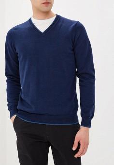 Пуловер, J. Hart & Bros, цвет: синий. Артикул: JH001EMAYSB2. Одежда / Джемперы, свитеры и кардиганы