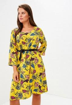 Платье, Junarose, цвет: желтый. Артикул: JU008EWBUDG7. Одежда / Платья и сарафаны