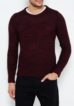 Джемпер, Just Key, цвет: бордовый. Артикул: JU016EMWKI62. Одежда / Джемперы, свитеры и кардиганы