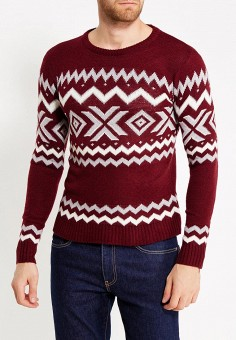 Джемпер, Just Key, цвет: бордовый. Артикул: JU016EMWKI79. Одежда / Джемперы, свитеры и кардиганы