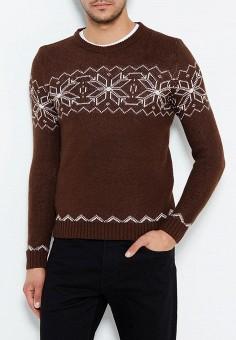 Джемпер, Just Key, цвет: коричневый. Артикул: JU016EMWKI97. Одежда / Джемперы, свитеры и кардиганы