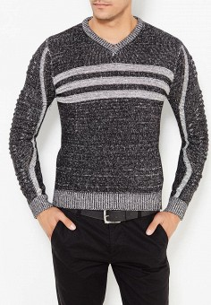 Пуловер, Just Key, цвет: серый. Артикул: JU016EMWKI99. Одежда / Джемперы, свитеры и кардиганы