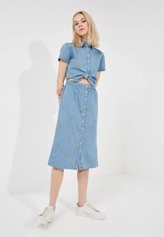 Платье джинсовое, Juicy by Juicy Couture, цвет: голубой. Артикул: JU018EWBAMC7. Premium / Одежда / Платья и сарафаны