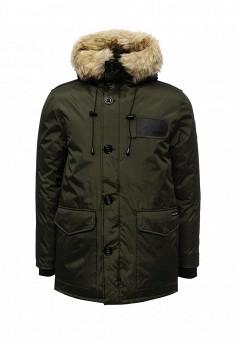 Куртка утепленная, Kamora, цвет: зеленый. Артикул: KA032EMXNG49. Мужская одежда / Верхняя одежда / Пуховики и зимние куртки