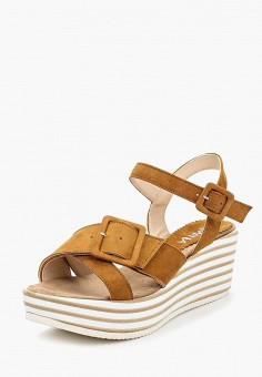 Босоножки, Lamania, цвет: коричневый. Артикул: LA002AWAMSE4. Обувь / Босоножки