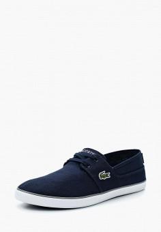 Кеды, Lacoste, цвет: синий. Артикул: LA038AMADLI0. Обувь / Кроссовки и кеды / Кеды
