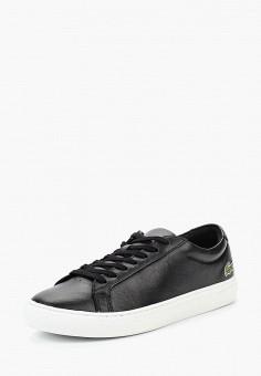 Кеды, Lacoste, цвет: черный. Артикул: LA038AMUZH26. Обувь / Кроссовки и кеды / Кеды