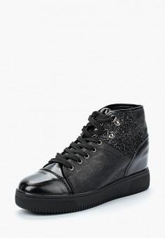 Кеды на танкетке, La Bottine Souriante, цвет: черный. Артикул: LA062AWBCGA2. Обувь / Кроссовки и кеды / Кеды