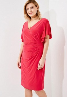 Платье, Lauren Ralph Lauren Woman, цвет: розовый. Артикул: LA079EWAOSC4. Premium / Одежда / Платья и сарафаны