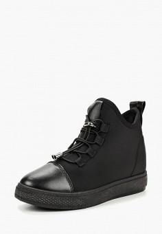 Кеды на танкетке, L.Day, цвет: черный. Артикул: LD001AWCSMK0. Обувь / Кроссовки и кеды / Кеды