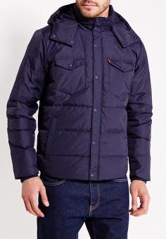 Пуховик, Levi's®, цвет: синий. Артикул: LE306EMUMD34. Одежда / Верхняя одежда / Пуховики и зимние куртки