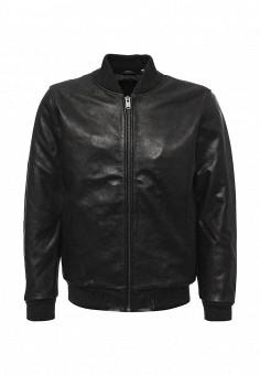 Куртка кожаная, Levi's®, цвет: черный. Артикул: LE306EMUMD35. Одежда / Верхняя одежда / Кожаные куртки