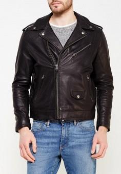 Куртка кожаная, Lee, цвет: черный. Артикул: LE807EMXVM41. Одежда / Верхняя одежда / Кожаные куртки