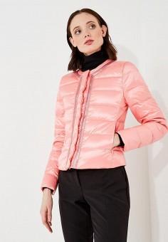 Пуховик, Liu Jo, цвет: розовый. Артикул: LI003EWZHF25. Одежда / Верхняя одежда