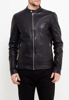 Куртка кожаная, Lindbergh, цвет: черный. Артикул: LI035EMWGE79. Одежда / Верхняя одежда / Кожаные куртки