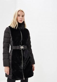 Пуховик, Liu Jo, цвет: черный. Артикул: LI687EWBSPV3. Одежда / Верхняя одежда / Зимние куртки