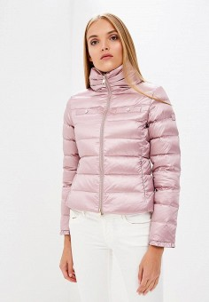Пуховик, Liu Jo, цвет: розовый. Артикул: LI687EWBSPV5. Одежда / Верхняя одежда / Зимние куртки
