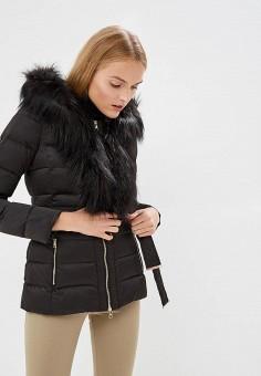 Пуховик, Liu Jo, цвет: черный. Артикул: LI687EWBSPW3. Premium / Одежда / Верхняя одежда / Зимние куртки