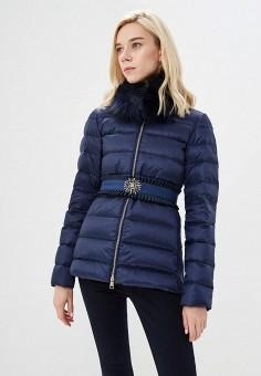 Пуховик, Liu Jo, цвет: синий. Артикул: LI687EWBSPX2. Одежда / Верхняя одежда / Зимние куртки