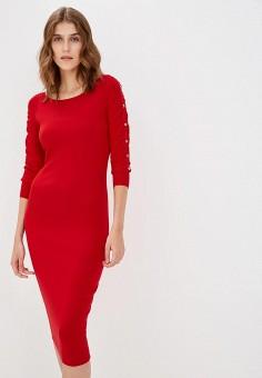 Платье, Liu Jo, цвет: красный. Артикул: LI687EWBSQQ4. Premium / Одежда / Платья и сарафаны