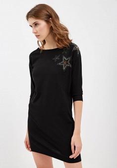 Платье, Liu Jo, цвет: черный. Артикул: LI687EWBSQQ5. Premium / Одежда / Платья и сарафаны