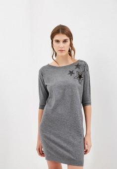 Платье, Liu Jo, цвет: серый. Артикул: LI687EWBSQQ6. Premium / Одежда / Платья и сарафаны