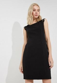 Платье, Liu Jo, цвет: черный. Артикул: LI687EWBSQS4. Одежда / Платья и сарафаны
