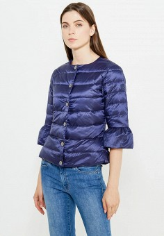 Пуховик, Liu Jo, цвет: синий. Артикул: LI687EWUDM98. Одежда / Верхняя одежда / Пуховики и зимние куртки