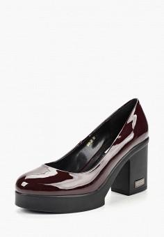 Туфли, Lino Marano, цвет: бордовый. Артикул: LI826AWCORA9. Обувь / Туфли / Закрытые туфли
