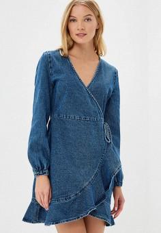 Платье джинсовое, LOST INK, цвет: синий. Артикул: LO019EWCCQP0. Одежда / Платья и сарафаны