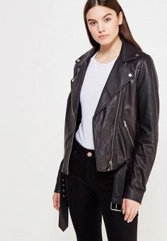 Куртка кожаная, LOST INK, цвет: черный. Артикул: LO019EWUTW84. Одежда / Верхняя одежда