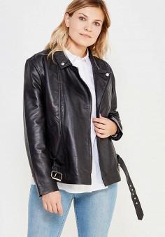 Куртка кожаная, LOST INK PLUS, цвет: черный. Артикул: LO035EWWYA45. Одежда / Верхняя одежда / Косухи