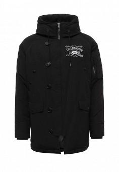 Куртка утепленная, Love Moschino, цвет: черный. Артикул: LO416EMUUW56. Премиум / Одежда / Верхняя одежда / Пуховики