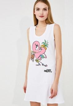 Платье, Love Moschino, цвет: белый. Артикул: LO416EWAEVL0. Premium / Одежда / Платья и сарафаны
