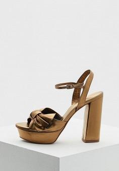 Босоножки, Lola Cruz, цвет: золотой. Артикул: LO688AWAZHU8. Premium / Обувь / Босоножки